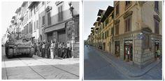 carro Sherman in #Firenze Via dei Serragli #4Agosto1944