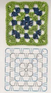 Transcendent Crochet a Solid Granny Square Ideas. Wonderful Crochet a Solid Granny Square Ideas That You Would Love. Crochet Granny Square Beginner, Granny Square Bag, Crochet Motifs, Granny Square Crochet Pattern, Afghan Crochet Patterns, Crochet Chart, Crochet Squares, Knitting Patterns, Granny Squares