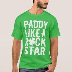 #funny - #Paddy Like a Rock Star T-Shirt