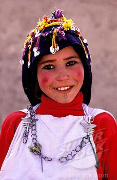 Africa   Morocco, Haut Atlas, Imilchil, young Berber girl of Ait Haddidou tribe during the Wedding Moussem (festival)     © Hemis.fr