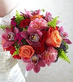 Brilliant Blossoms Bouquet will be one of the best highlights of your wedding day. Who wouldn't like a glorious bouquet , to brighten their special day? Wedding Bouquets, Wedding Flowers, Bouquet Flowers, Floral Design Classes, Send Flowers Online, Green Orchid, Cymbidium Orchids, Same Day Flower Delivery, Spray Roses