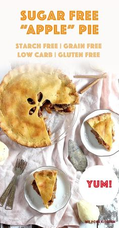 This sugar free apple pie is just like the title says! No sugar or fruit were used to make this healthy apple pie! #KETOPIE #LOWCARBPIE #APPLEPIE #PCOSDIET #MYPCOSKITCHEN Low Carb Keto, Low Carb Recipes, Healthy Gluten Free Bread, Double Pie Crust Recipe, Sugar Free Apple Pie, Low Carb Pie Crust, Winter Food, Healthy Desserts, Food Processor Recipes