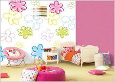 Décor de Maison / Décoration Chambre: Décoration chambres à thème de fleur pour les petites filles