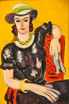 Henri Matisse - The Embroidered Dark Blouse (Woman in Red Chair), 1936 at Baltimore Museum of Art