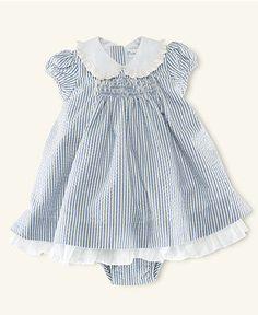 Ralph Lauren Baby Dress, Baby Girls Seersucker Dress
