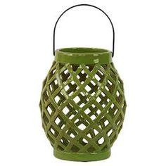 Ceramic Lantern in Green