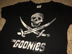 Sale Vintage The GOONIES black T-shirt band tee by casualisme