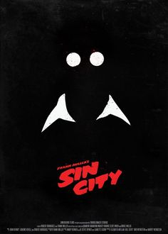 Sin City poster by Róbert Oláh Best Movie Posters, Minimal Movie Posters, Minimal Poster, Cinema Posters, Movie Poster Art, Composition D'image, Sin City Movie, City Poster, Poster Minimalista