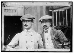 The Voisin brothers, French aviation pioneers. Gabriel Voisin (1880-1973), on the left, and Charles Voisin (1882-1912), on the right (by The Library of Congress). Their company, Voisin Freres, was the Europe's first commercial airplane factory.