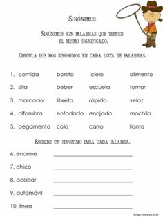 Synonyms and antonyms in Spanish  A packet to help learn and differentiate between the two.