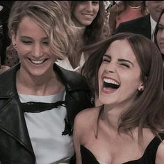 Lovely picture!! Jen and Emma | Dior Fashion Show | 7th July
