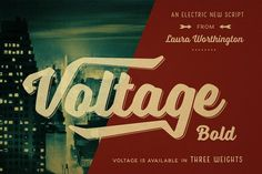 Voltage Bold by Laura Worthington on @creativemarket