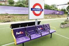 FedEx domination at Southfields Station for Wimbledon by UK Outdoor My Town, Wimbledon, Campaign, Around The Worlds, Success, The Originals, Outdoor, Image, Outdoors