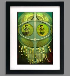"""12 x 18 Original Bioshock Inspired Art Poster - """"Time to Find Some Angels"""". $15.00, via Etsy."""
