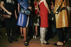 Primary coloured python backstage at Proenza Schouler SS15 NYFW. More images here: http://www.dazeddigital.com/fashion/article/21486/1/proenza-schouler-ss15-live-stream