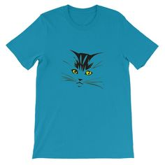 Cat Unisex Short Sleeve T-shirt S-4XL by Channel Zero Tshirts