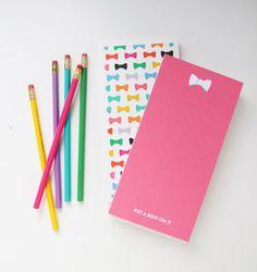 Studio DIY & Pencil Shavings Studio Bow Notepad | @giftryapp