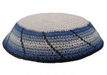 White Crochet Kippah KNT-WTM386N