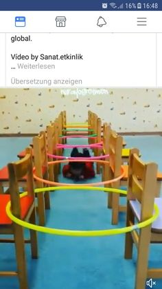 Easy way to make an obstacle course task! - Easy way to make an obstacle course task! Turn cla… – Easy way to make an obstacle course task! Gross Motor Activities, Gross Motor Skills, Indoor Activities, Preschool Activities, Party Activities, Family Activities, Summer Activities For Kids, Games For Kids, Course À Obstacles