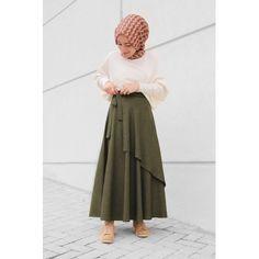 Düşes Yeşil Etek Muslim Fashion, Hijab Fashion, Hijab Chic, Mode Hijab, Hijab Outfit, Rock, Skirt Fashion, Midi Skirt, Tulle