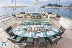 HEMISPHERE Yacht Photos - 144ft Luxury Sail Yacht for Charter. interior design Michael Leach