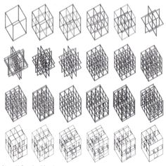 Cubes: Peter Eisenman's analytical drawings