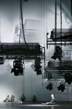 LOVE this - low hanging lights. Stage Designer - Brack, Katrin - Pictures-Goethe-Institut: