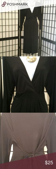 Liz Lange by Target Black Tie Back Dress Excellent Condition, Looking good being pregnant, Stretch, Deep V-neck, 3/4 Elbow Sleeve, Thanks for sharing my closet, I will show Posh love by doing the same. Liz Lange for Target Dresses