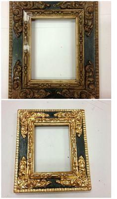 #Restauración de #marco #antiguo mediante las técnicas de #dorado