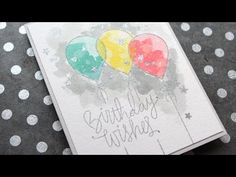 Distress Ink Watercolor Birthday Card by Kristina Werner using the September 2015 card kit by Simon Says Stamp.