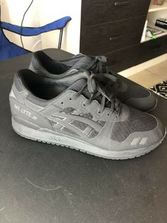 eeb26ea32c1 ASICS GEL-Lyte III Running Shoes - Black - Mens Size 10.5  fashion   clothing  shoes  accessories  mensshoes  athleticshoes (ebay link)