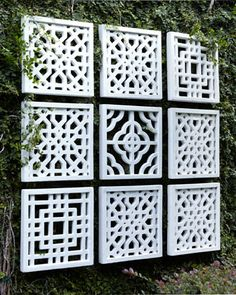 Nine Geometric Fretwork Wall Decor Panels - Neiman Marcus