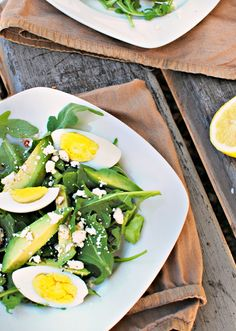 Avocado, Egg, and Feta Salad (Vegetarian & Gluten Free) - Looks divine :)