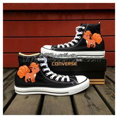 Fox Cartoon Shoes Vulpix Pokemon Hand Painted Shoes Kids Adult F Painted Canvas Shoes, Hand Painted Shoes, Kid Shoes, Me Too Shoes, Cartoon Shoes, Design Your Own Shoes, Canvas Sneakers, Designer Shoes, High Top Sneakers