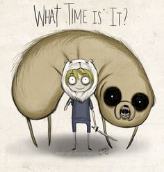 Adventure Time - Tim Burton style