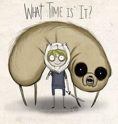Adventure Time - Tim Burton style