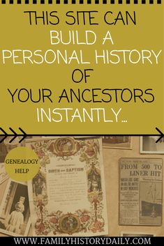 This site can build a personal history of your ancestors. Learn more about your family history instantly.