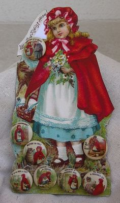 Red Riding Hood buttons; Petit chaperon rouge boutons.jpg