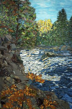 """Fall Along The River 72"""" x 48"""""""