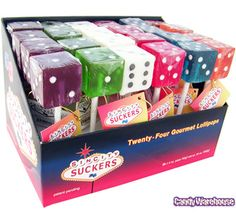 Dice Lollipops: 24-Piece Box | CandyWarehouse.com Online Candy Store
