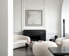 Interior design by French Designer, Joseph Dirand, utilizing classic white paneling.