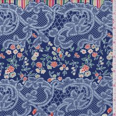 Blue Floral/Lace Swimwear - 34106 - | Discount By The Yard | Fashion Fabrics