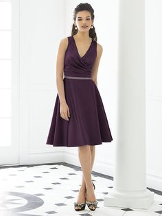After Six Bridesmaid   Style 6647  Aubergine