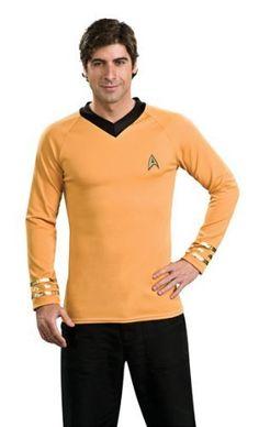 Deluxe Star Trek Gold Shirt Costume - Adult Medium  Price : $37.97 http://www.thinkfasttoys.com/Deluxe-Star-Trek-Shirt-Costume/dp/B001QTQ0V2