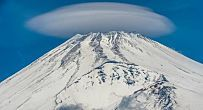 UFOs In The Clouds -- Lenticular Clouds, That Is -- Fire Our Imaginations Of Alien Visitors Lenticular Clouds, Mont Fuji, Far Away, Mother Earth, Mount Rainier, Astronomy, Mystic, Road Trip, Weather