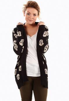 Skulls Knitted Cardigan | Missrebel £5