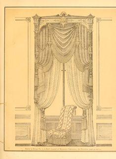Book of designs Victorian Curtains, Victorian Windows, Victorian Interiors, Vintage Interiors, Victorian Window Treatments, Victorian Castle, Small Curtains, European Home Decor, Miniature Crafts