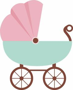baby clipart girl cute pink baby carriage free clip art family rh pinterest com  pink baby buggy clipart