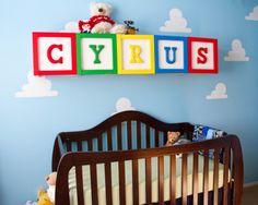 Project Nursery - Toy Story Nursery with Oversized Alphabet Blocks - Project Nursery