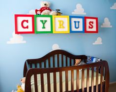 Project Nursery - Toy Story Nursery with Oversized Alphabet Blocks - Project Nursery